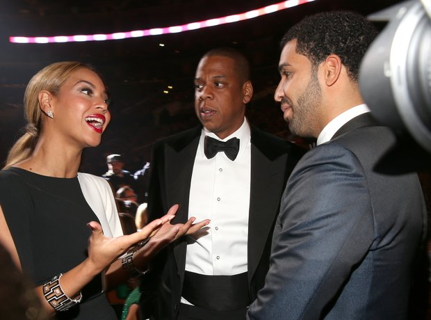 Beyonce, Jay-Z and Drake 2013 Grammy Awards