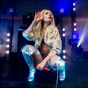 Iggy Azalea performs at her album launch