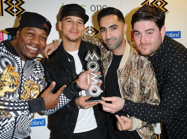 Rudimental holding their Mobo Awards 2013