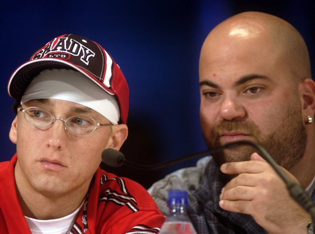 Eminem and his manager Paul Rosenberg