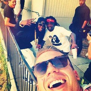 Rapper selfie