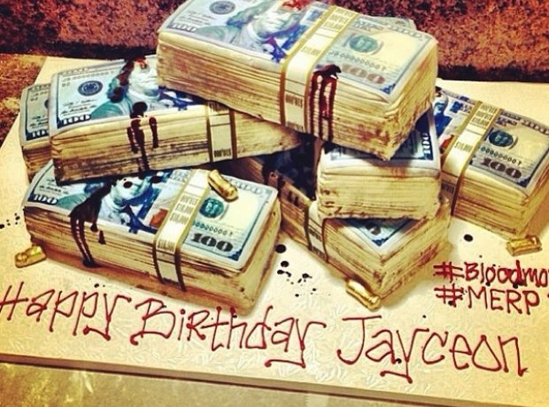 The Game money birthday cake