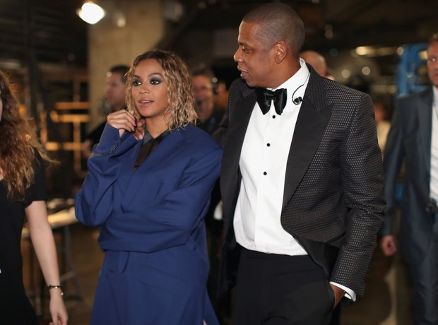 Beyonce and Jay Z backstage Grammy Awards