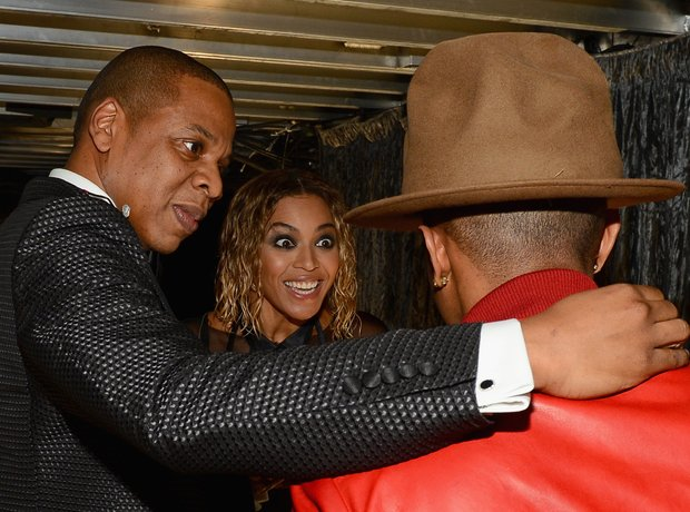 Pharrell WIlliams, Jay Z and Beyonce