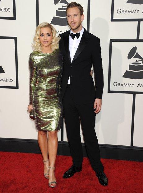 Rita Ora and Calvin Harris Grammy Awards 2014