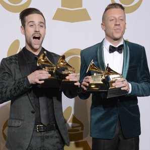 Ryan Lewis and Macklemore at the Grammy Awards 201