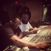 Image 1: P Diddy and Rick Ross in the studio