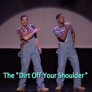 Will Smith Jimmy Fallon Dirt off your shoulder evo