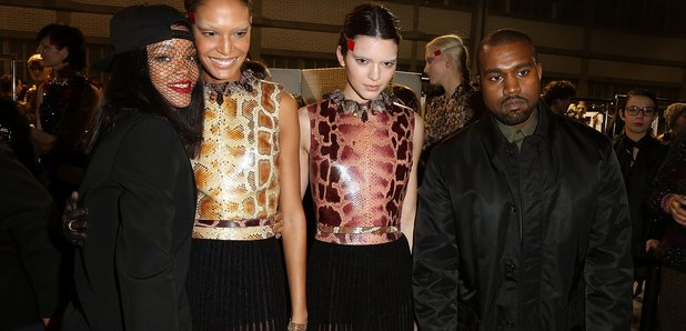 Rihanna, Kendall Jenner and Kanye West
