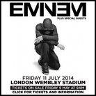 Eminem Wembley Stadium 2014 poster