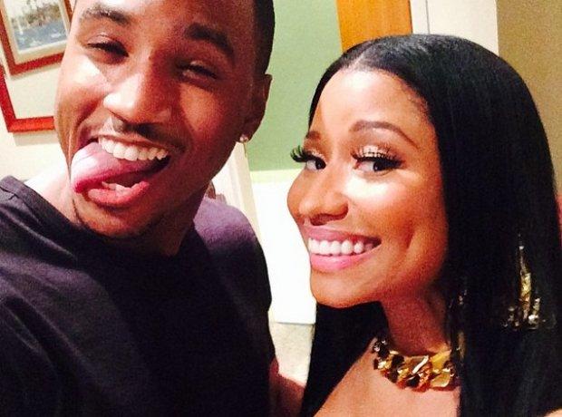 Trey Songz and Nicki Minaj selfie