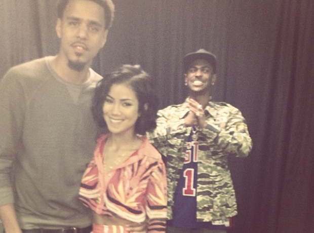 J Cole Jhene Aiko Big Sean Photobomb