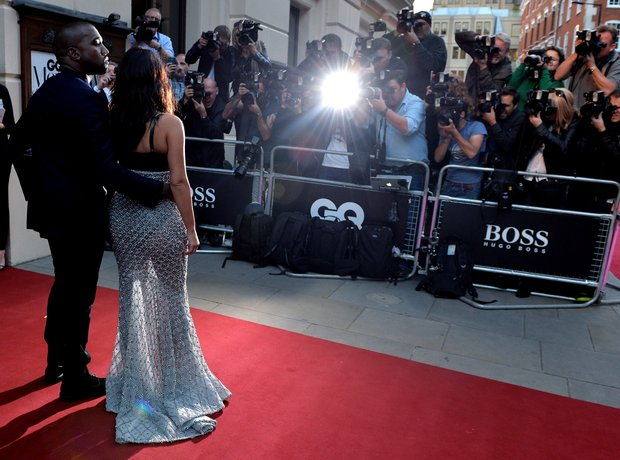 Kim Kardashian and Kanye West GQ Awards 2014