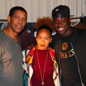 Kojo and Jade with Denzel Washington