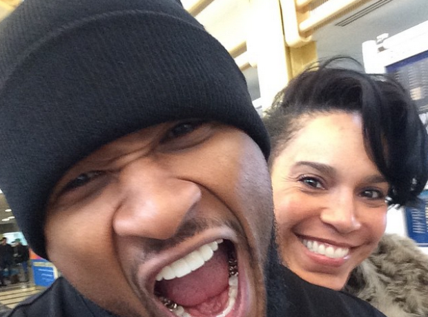 Usher and fiance Grace Miguel