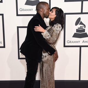 Kanye West and Kim Kasdashian