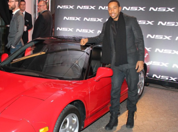 Ludacris at the launch of the new Acura NSX