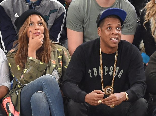 Beyonce and Jay Z attend the 64th NBA All-Star Gam