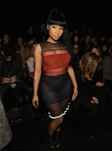 Nicki Minaj Fashion Week 2015 Sheer Outfit