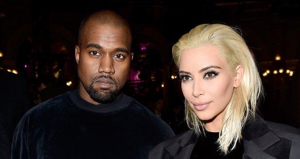 Kim Kardashian with blonde hair