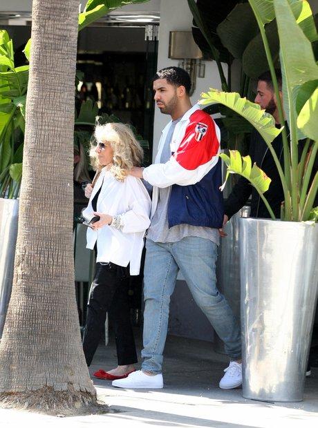 Drake with his Mum