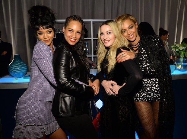 Rihanna, Alicia Keys, Beyonce and Madonna Tidal Ev