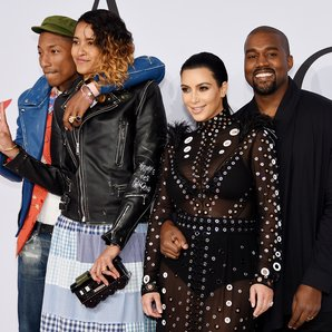 Pharrell Williams, Helen Lasichanh, Kim Kardashian