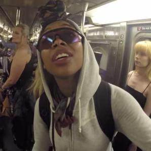 Brandy on subway