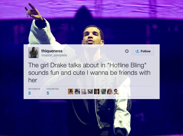 Girls Hotline Bling Tweets