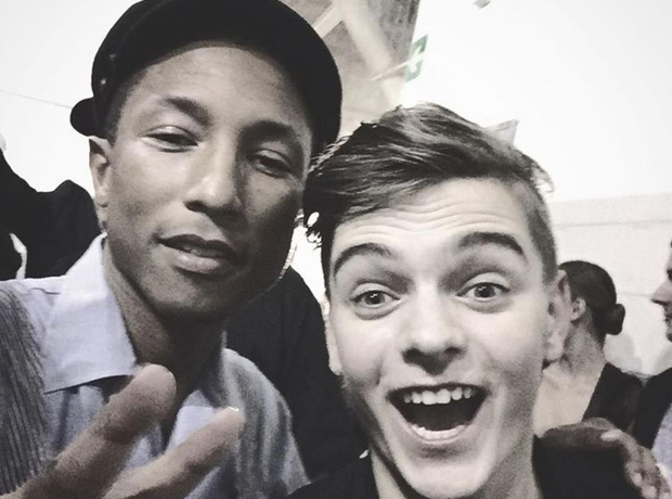Pharrell and Martin Garrix Selfie