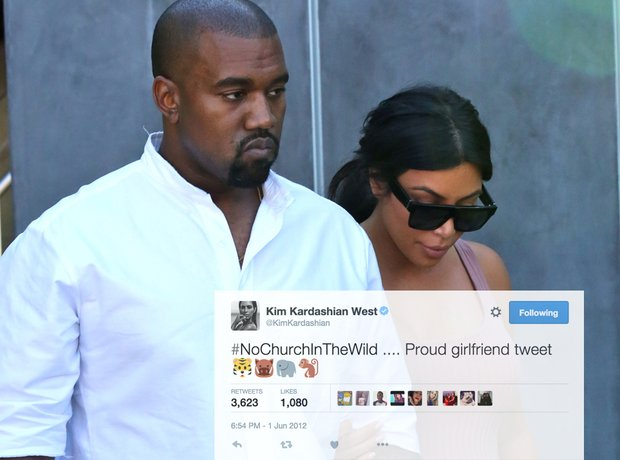 Kim Kardashian Kanye West proud girlfriend tweet