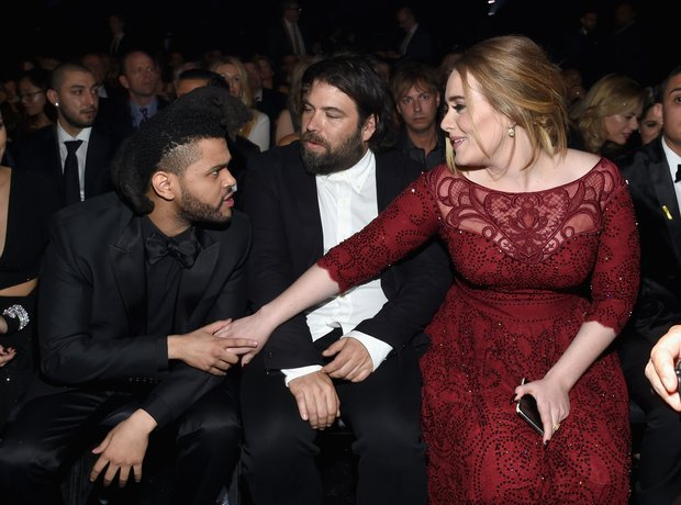 The Weeknd and Adele