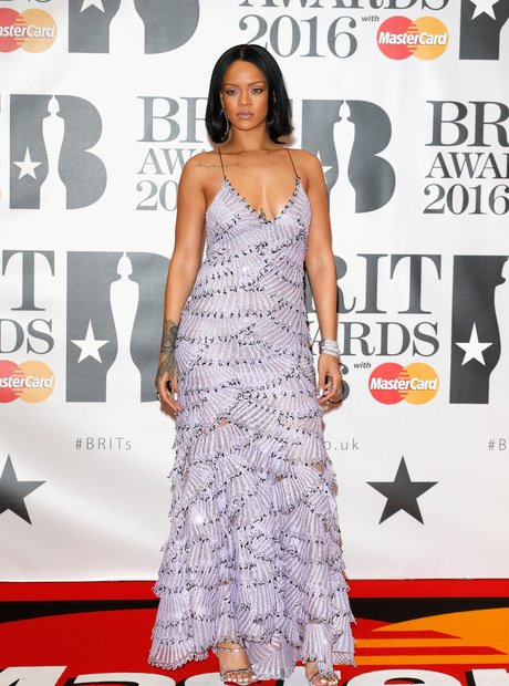 Rihanna Red Carpet Arrivals Brit Awards 2016