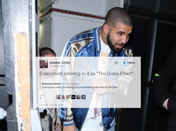 Drake walking out of building