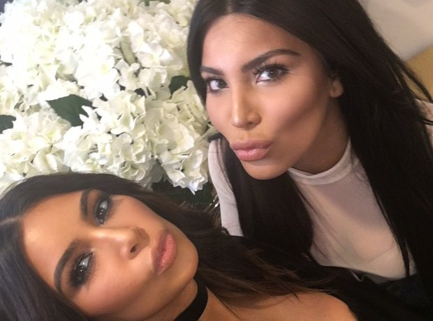 Kim Kardashian and her lookalike