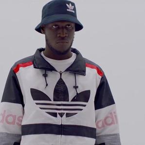 Stormzy wearing adidas jacket