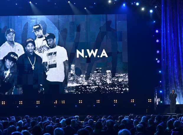Kendrick Lamar giving NWA speech