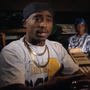 Tupac sat in studio