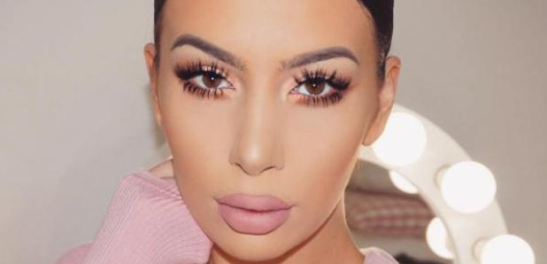 Kim Kardashian Look-a-like selfie