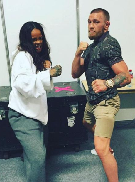 Rihanna and Connor McGregor