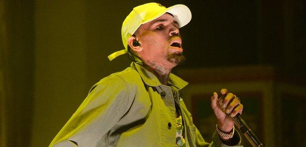 Chris Brown on stage