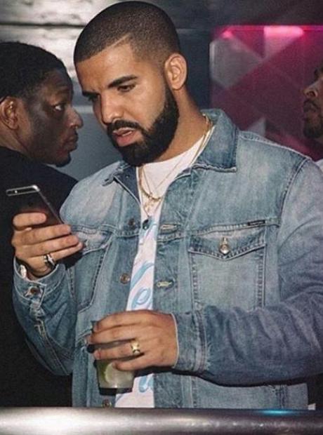 Drake Looking At Phone
