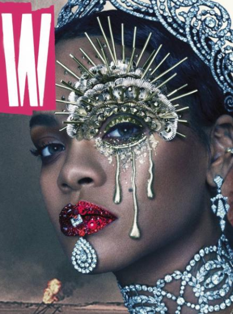 Rihanna covering W Magazine