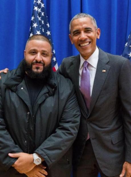 DJ Khaled and Barack Obama