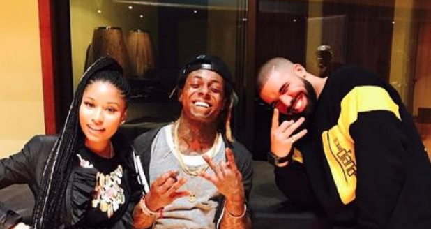 Nicki Minaj with Drake and Lil Wayne