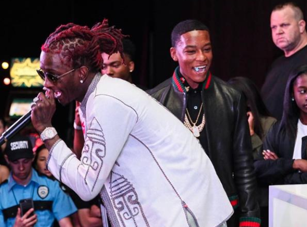 Young Thug at Zion Mayweather's party
