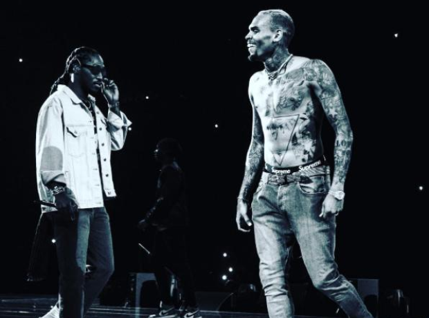 Future joins Chris Brown on stage party tour
