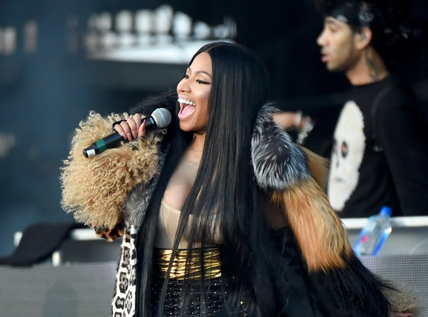 Nicki MInaj performing at the Meadows festival
